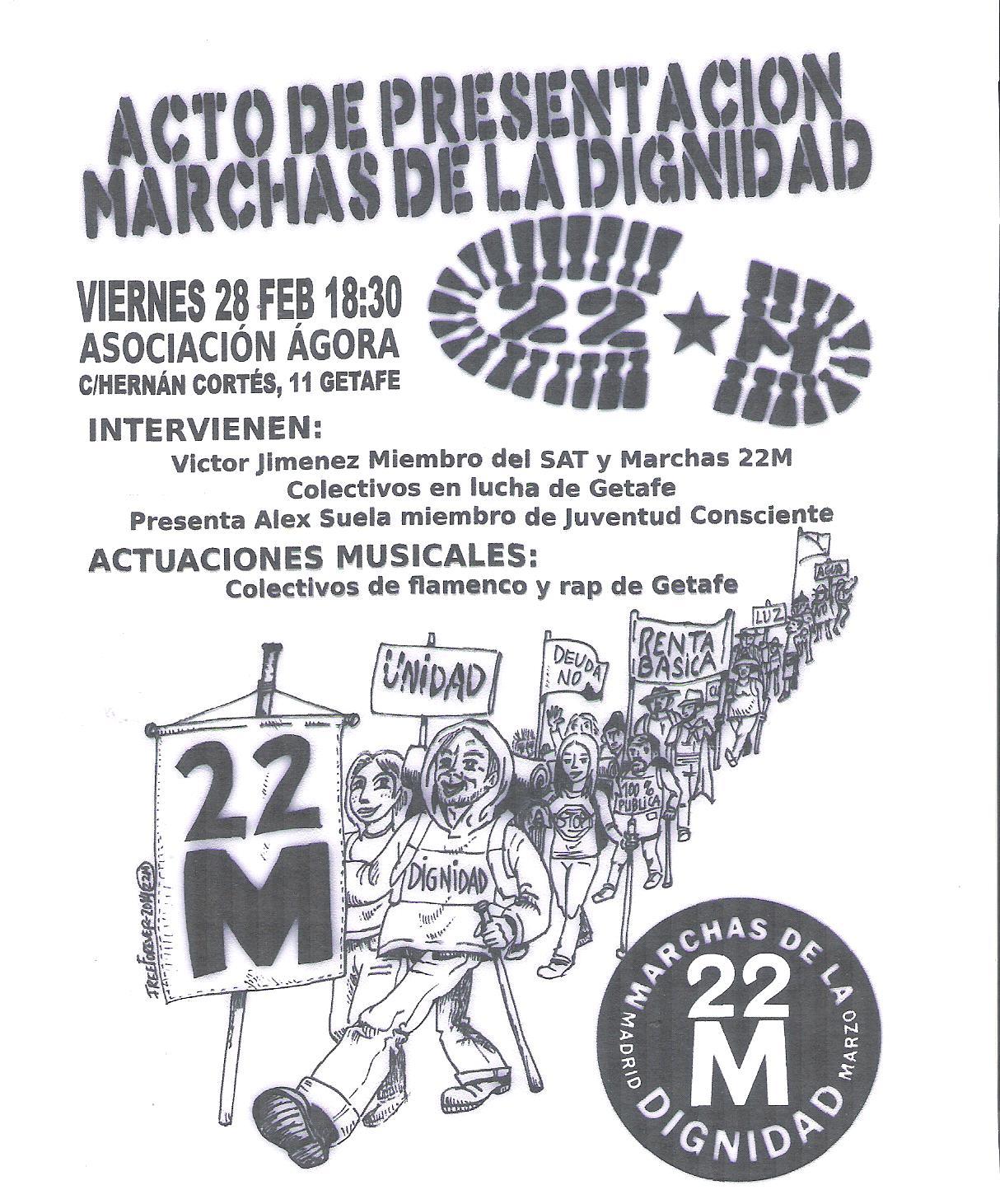 cartel presentación marchas getafe