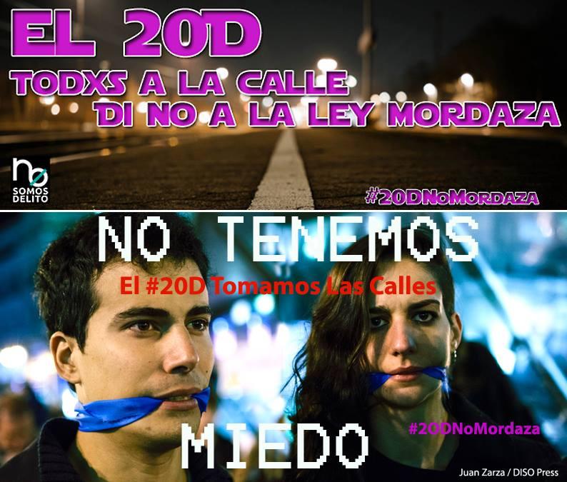 20D No a la liy Mordaza